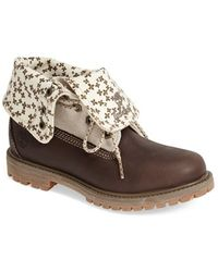 Timberland Women'S Earthkeepers 'Authentic' Fold-Down Boot - Lyst