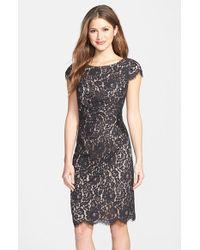 Eliza J Women'S Beaded Lace Sheath Dress - Lyst