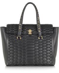 Roberto Cavalli Kelly Python Quilt Leather Shoulder Bag - Lyst
