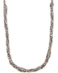 Lucky Brand Silvertone Beaded Multistrand Twist Necklace - Lyst