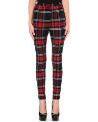 Jean Paul Gaultier Tartan Skinny Trousers Multi - Lyst
