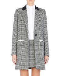 Paco Rabanne Jacquard Single-Button Coat gray - Lyst