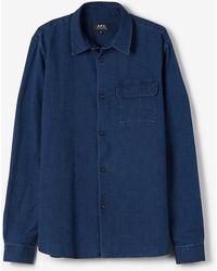 A.P.C. Bruce Shirt blue - Lyst