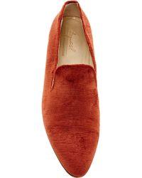 Brock Collection 1994 Velvet Loafer - Orange