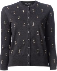 Dolce & Gabbana Key Embroidered Cardigan - Lyst