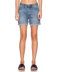 Cheap Monday Thrift Stretch-Denim Shorts blue - Lyst