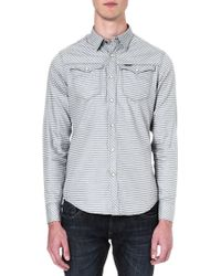 G-star Raw Melville Stripe Shirt Blue - Lyst