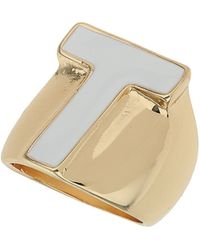 TOPSHOP - T Initial Ring - Lyst