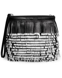 Proenza Schouler 'Fringe' Contrast Back Leather Clutch - Lyst