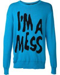 Jeremy Scott Im A Mess Sweater - Blue