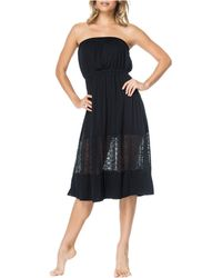 Jessica Simpson Strapless Dress - Black
