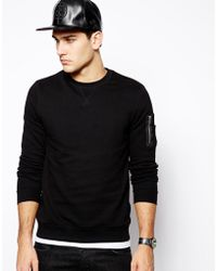 Asos Sweatshirt with Ma1 Detail - Lyst
