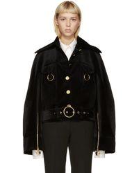 Thomas Tait Black Velvet Workman Jacket