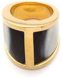 Maiyet - Butterfly Ring With Horn Inlay - Dark Grey - Lyst