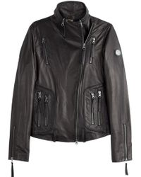 True Religion Leather Biker Jacket - Lyst