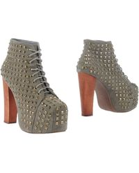 Jeffrey Campbell Green Ankle Boots - Lyst