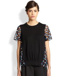 Marc Jacobs Embroidered Tulle Top - Lyst