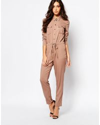 Daisy Street - Utility Style Casual Jumpsuit With Pockets - Lyst
