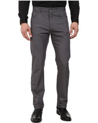 Calvin Klein Five-Pocket Twill Pants gray - Lyst