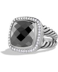 David Yurman Albion Ring With Hematine & Diamonds - Metallic