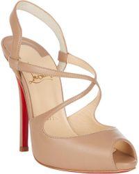 Christian Louboutin Cross Street Sandals - Lyst