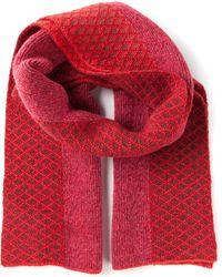 Prabal Gurung Patterned Scarf - Red