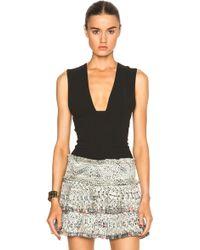 Isabel Marant Garron Cotton Gauze Top black - Lyst