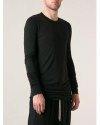 Rick Owens Black Long Tshirt - Lyst