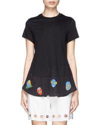 Stella McCartney 'Superstellaheroes' Mask Print Ruffle Hem T-Shirt - Lyst
