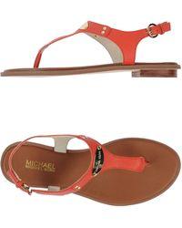 MICHAEL Michael Kors Thong Sandal - Lyst