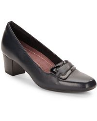 Clarks Levee Delta Leather Pumps - Lyst