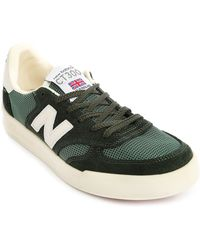 New Balance 300 Made In Uk Green Suede/Mesh Sneakers - Lyst