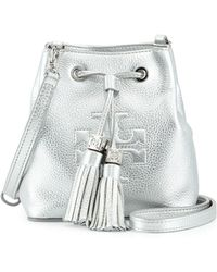 Tory Burch Thea Mini Crossbody Bucket Bag - Lyst