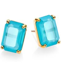 Kate Spade Emerald-Cut Stud Earrings - Lyst