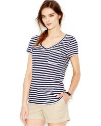 Maison Jules Striped Tee - Lyst