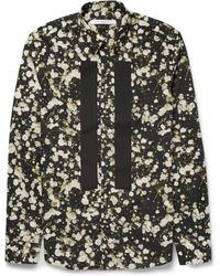 Givenchy Button-Down Collar Floral-Print Cotton Shirt - Lyst