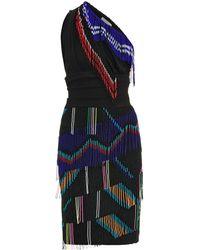 Preen Marima One-Shouldered Fringe Dress - Lyst