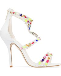 Oscar de la Renta Simona Embellished Leather Sandals - Lyst