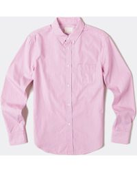 Band Of Outsiders L/S Pink Blue Stripe Shirt - Lyst