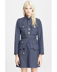 Marc Jacobs Melange Military Suiting Jacket - Lyst