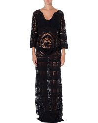 Lisa Maree London Fiction Openknit Dress Deep Nay - Lyst
