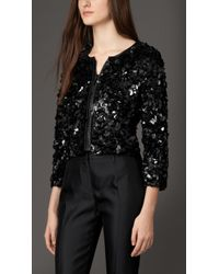 Burberry Crushed Sequin Jacket - Lyst
