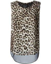 Rag & Bone Leopard Print Tank Top - Lyst