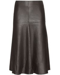 By Malene Birger Allingo Leather Skirt - Lyst