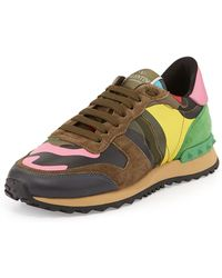 Valentino Psychedelic Camouflage Sneaker - Lyst