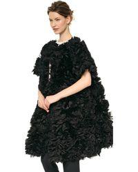 Temperley London Rose Evening Coat Black - Lyst