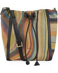 Paul Smith Swirl Stripe Bucket Bag - Multicolour