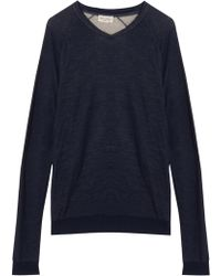 American Vintage Power Hill V Nk Waffle Sweat - Lyst
