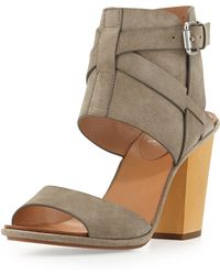 Vc Signature Okalini Strappy Buckle Suede City Sandal - Lyst