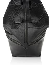 Alexander Wang Explorer Tote In Shiny Black Nylon With Matte Black
